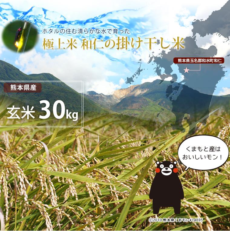 SlimSmart / 【送料無料】熊本県玉名郡和水町産 玄米 30kg こだわり ...